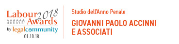Studio dell'Anno Penale- labour Awards 2018: Giovanni Paolo-Accinni e Associati